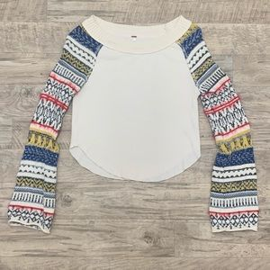 Free People I Distressed Cropped Sweater